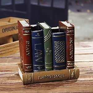 Chris. W Classic antiguo libros con forma de resina pluma