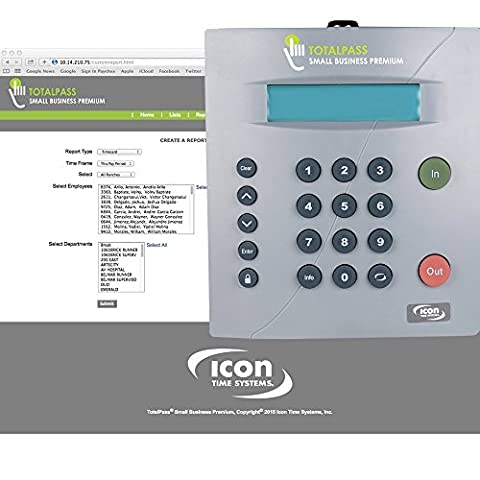 Icon Time Systems TotalPass Small Business Premium • Proximity Time Clock (Office Small Business Premium)
