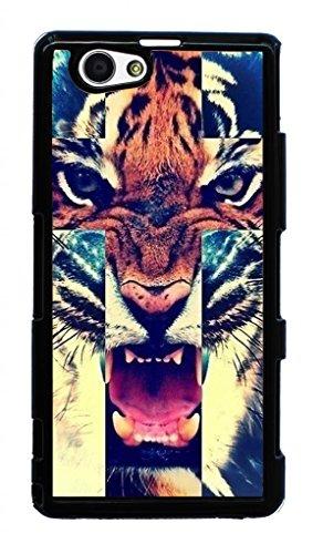 Hard Case for Sony D5503,Xperia Z1 Compact, M51w,Xperia Z1 mini(tiger roar cross hipster quote)