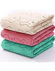 DUMEUAY Towel Set,Cute Baby Infant Newborn Rabbit Cartoon Soft Bath Feeding Towel Washcloth-Super Absorbent and Fast Drying,Multipurpose Use for Sports,Travel,Fitness, Yoga