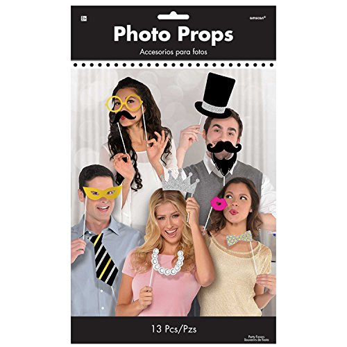 Amscan Booth Photo Props Fancy Party (6 Piece), Multicolor