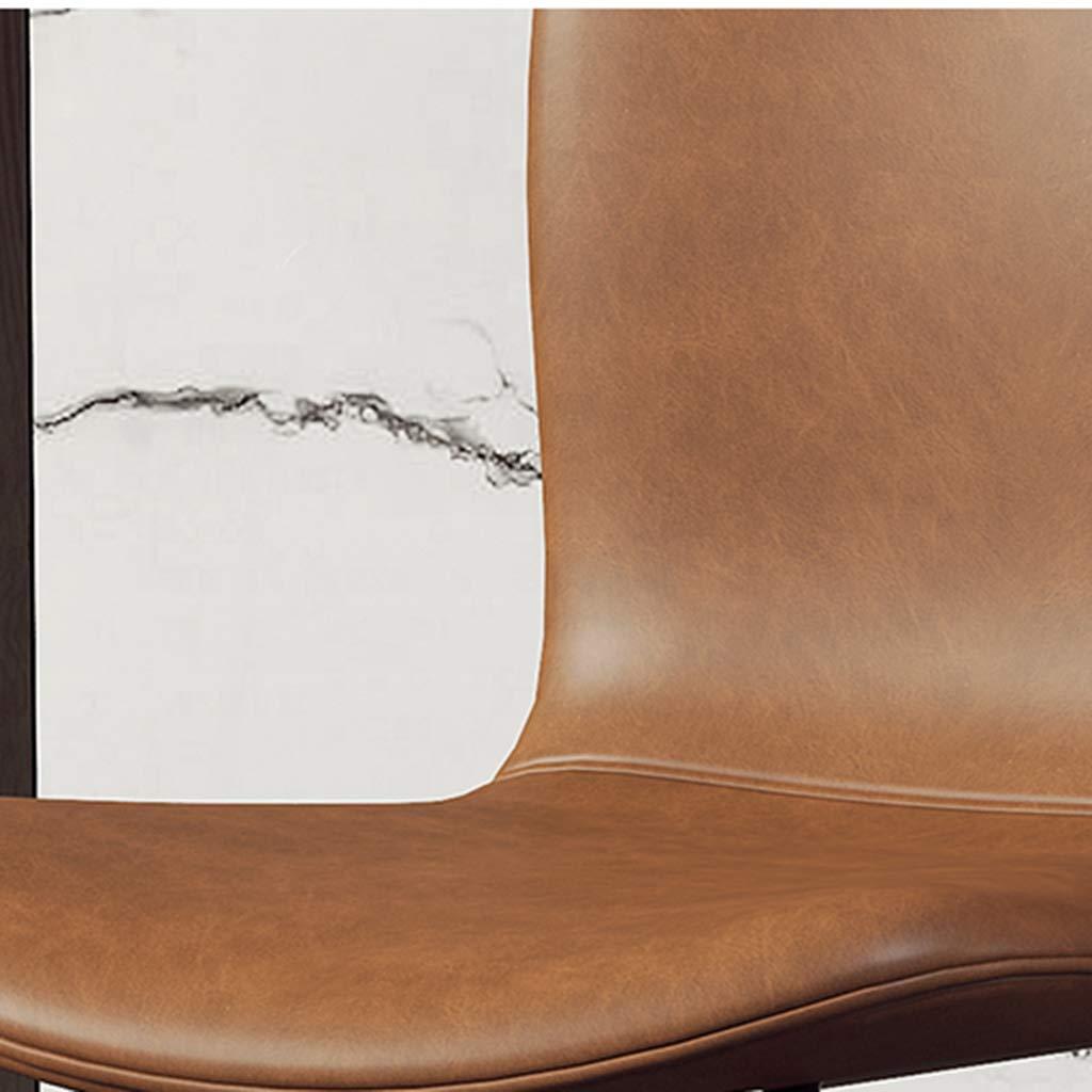 HEJINXL Matstolar, köksstolar tjock läderkudde metall halkskydd fötter hörnstol lämplig för alla avdelningsstolar (färg: F) H