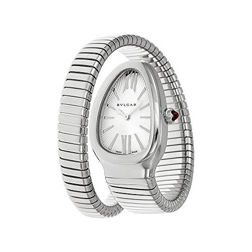 Bvlgari Watch Serpenti Silver Opaline Dial Ladies Watch 101828