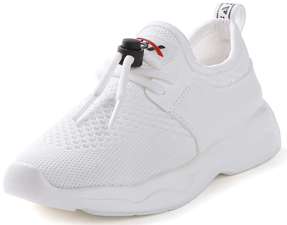 SFNLD InStar Kids Breathable Mesh Low Top Drawstring Round Toe Running Sneakers Shoes