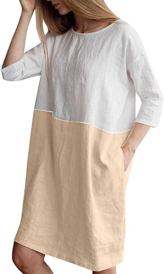 Short Sleeve Linen Dress Boho dress Bridesmaid dress Linen Tunic Dress Linen dress for woman Split neck dress Oversized Linen Dress