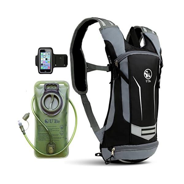 c8802b6a33 U`Be Hydration Pack Water Backpack – Kids Women Men Camelback – Hiking  Biking Running Bag with 2L Bladder