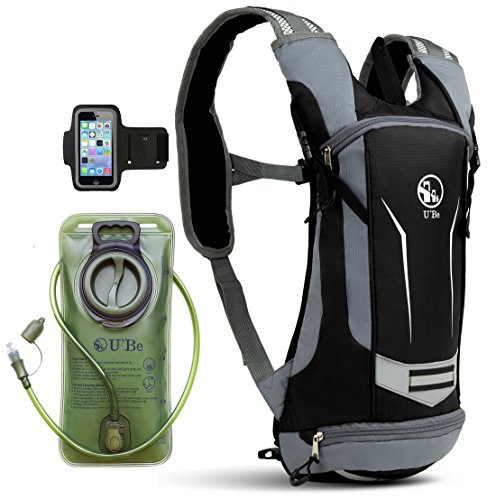 Classic Hydration System - U`Be Hydration Pack - Hydration Backpack - Camel Pack Water Backpack with Insulated 2l Bladder for Women Men Kids Backpacking - Small Lightweight Water Reservoir for Running Hiking Cycling