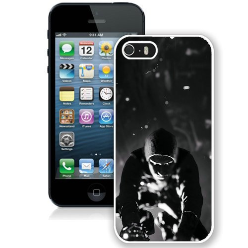Coque,Fashion Coque iphone 5S Infamous Second Son Noir And blanc blanc Screen Cover Case Cover Fashion and Hot Sale Design