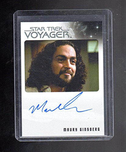 Important Trek Voyager Maury Ginsberg autographed card