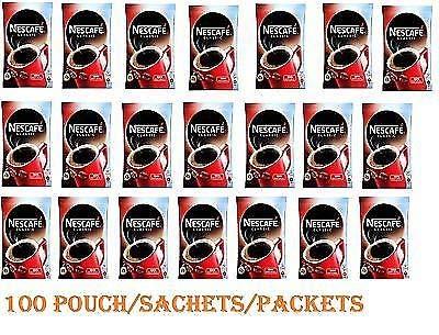 Nescafe Classic: Nescafe polvo de café instantáneo en bolsa pequeña, paquetes – 100 bolsas