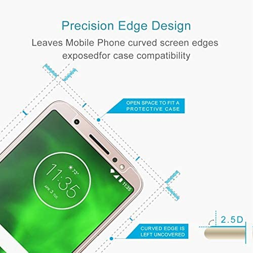 YINZHI Screen Protector Film 50 PCS 0.26mm 9H 2.5D Tempered Glass Film for Motorola Moto G6 Clear