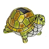 LXQ Solar Powered Garden Decor Art Turtle Statue Outdoor Patio Yard Lawn LED Light Review