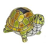LXQ Solar Powered Garden Decor Art Turtle Statue Outdoor Patio Yard Lawn LED Light