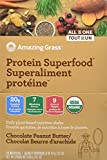 Amazing Grass Protein Superfood, Chocolate Peanut Butter, Individual Servings, 10 Count