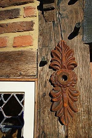 Antikas - anclaje estilo antiguo - adorno pared de dos hojas - anclaje de hierro fundido - adorno rústico jardín: Amazon.es: Bricolaje y herramientas