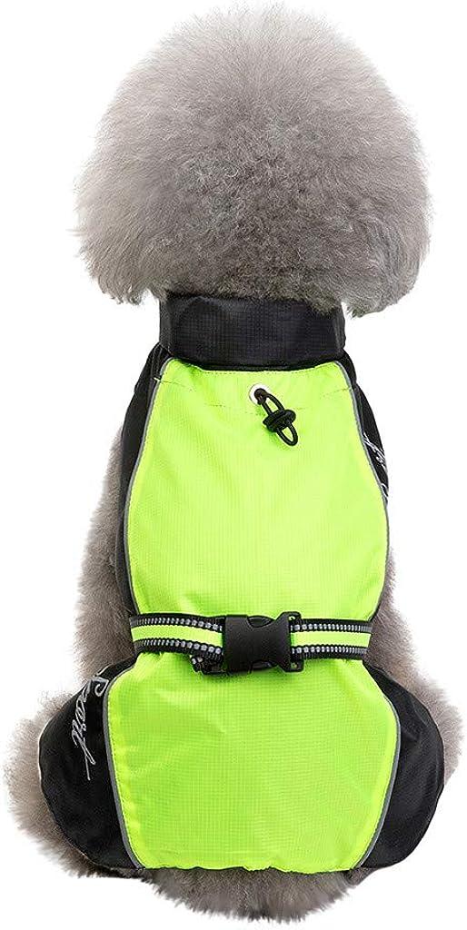 HappyShopYZ Otoño Invierno Chubasqueros Ropa para Mascotas Abrigo Clásico medianos Perro de Raza Grande Chaquetas Tops Perros