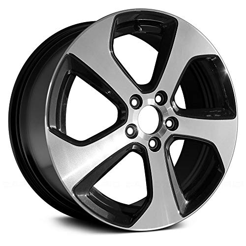 Replacement 5 Twisted Spokes Machined and Black Factory Alloy Wheel
