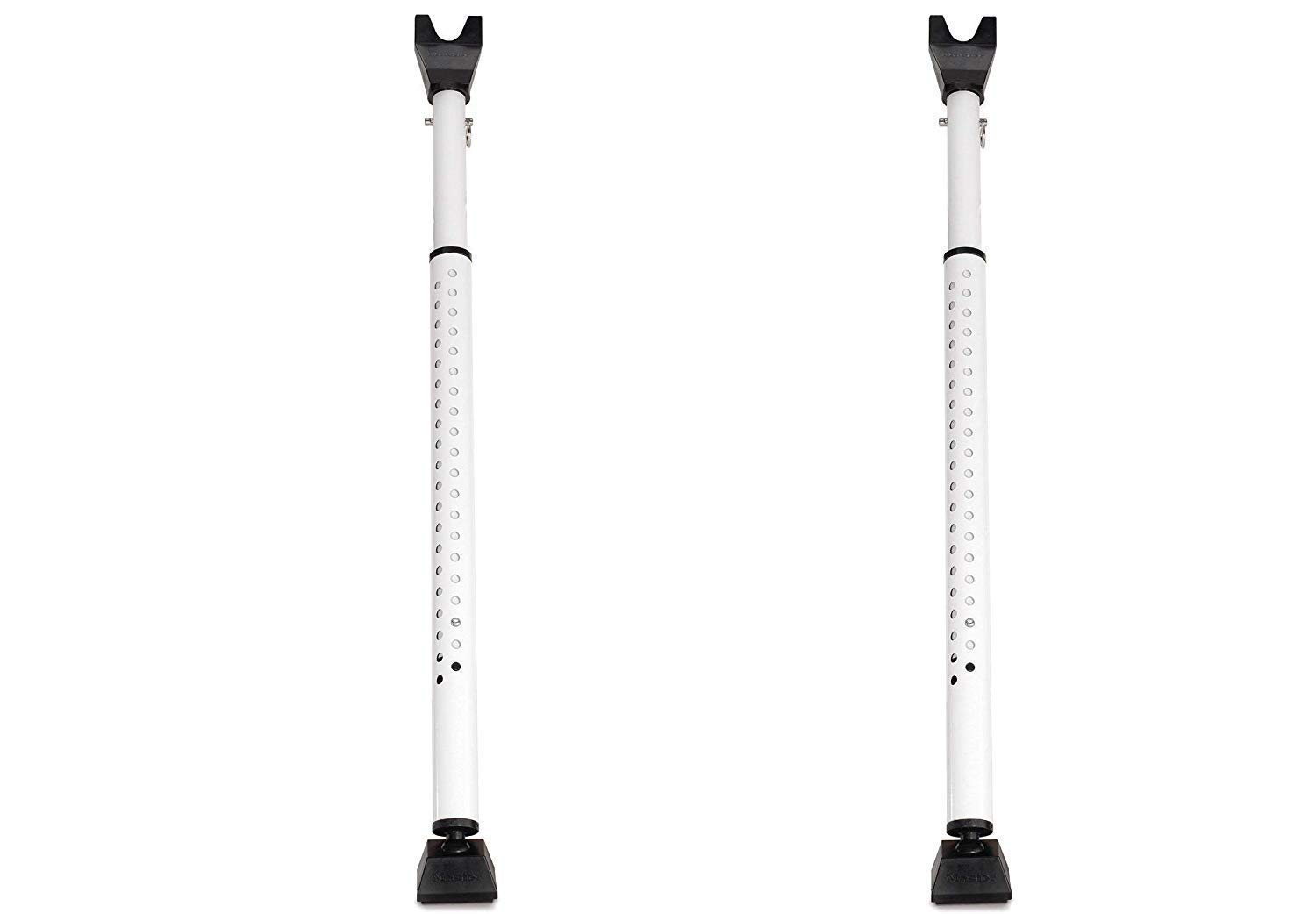 Master Lock 265D Door Security Bar, Adjustable from 27-1/2 in. to 44-1/2 in, White, (Pack of 2)