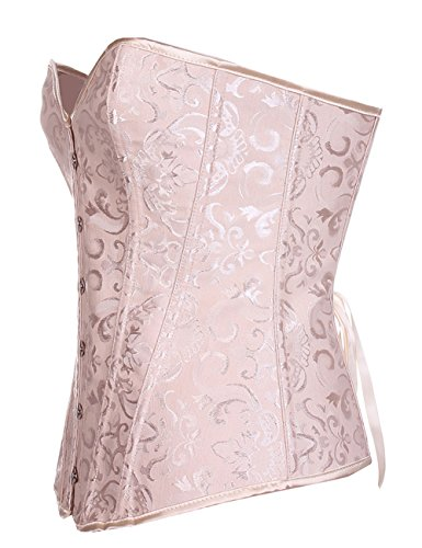 ZAMME mujers Corsé Vest con Cups Talla extra Busiter S-6XL Beige