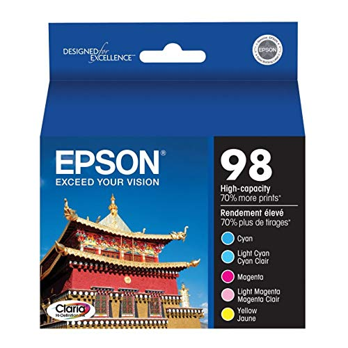 - Epson Claria T098920 98 Extra High-capacity Inkjet Cartridge Color Multipack-Cyan/Light Cyan/Magenta/Light Magenta/Yellow