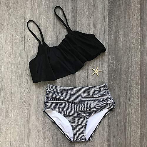 5b14a5796168d HITSAN INCORPORATION LASPERAL 2018 Vintage Bikinis Women Swimwear High  Waist Swimsuit Halter Bikinis Set Plus Size