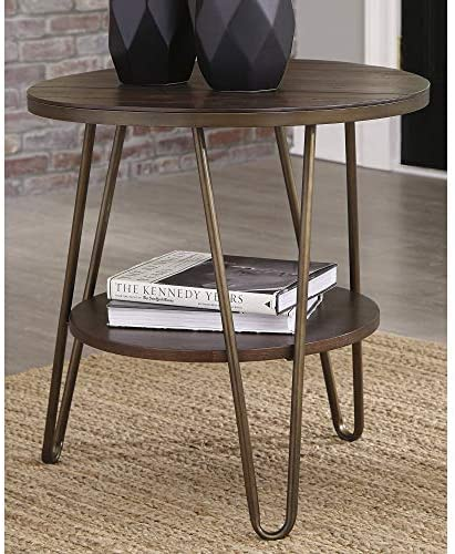 Signature Design by Ashley Lettori Round End Table Brown