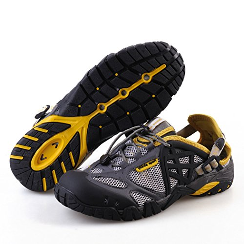 Qianling Collection Mens Water Shoe 60% Mesh / 40% Pu Athletic Anfibio Footwear Grigio