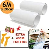 MOIKE Clear Paint Protection Film Set, 2 Roll 3m Transparent Paint Film With 2 Scrapers. Car Protection Film Roll to Protect your car from Scraping paint damage(20 * 320CM)