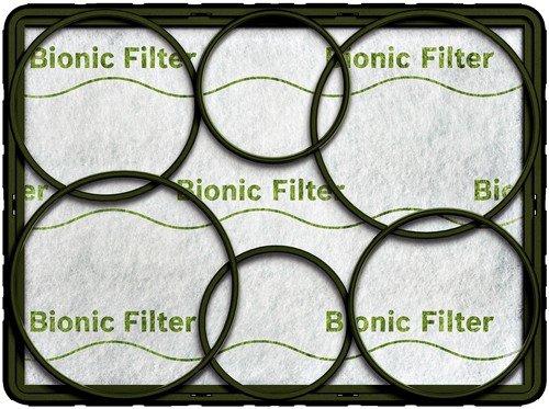 Bosch BBZ11BF Filtro bionico per aspirapolveri BSLG4/BSGL3/BSG6/BSG7/BSG4/BSA/BSD/BBS631/BBS639/BSC/BBS7/BBS8/BSF/VSZ6/VSZ4/VSZ3/VS06G/VS07G/VS04G