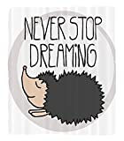 Chaoran 1 Fleece Blanket on Amazon Super Silky Soft All Season Super Plush Cute Wise Hedgehog Giving A Life AdvisequotNevertop Dreaming'' Text for Future Cartoon Print Fabric et