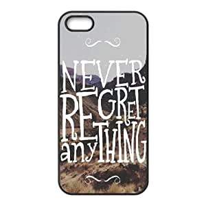 For HTC One M7 Phone Case Cover Never Regret Anything Hard Shell Back Black For HTC One M7 Phone Case Cover 326638