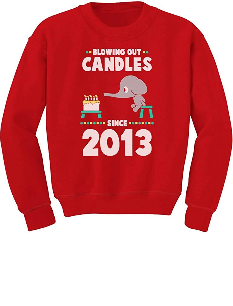 Tstars 4th Birthday Gift Blowing Out Candles Since 2013 Toddler//Kids Sweatshirts
