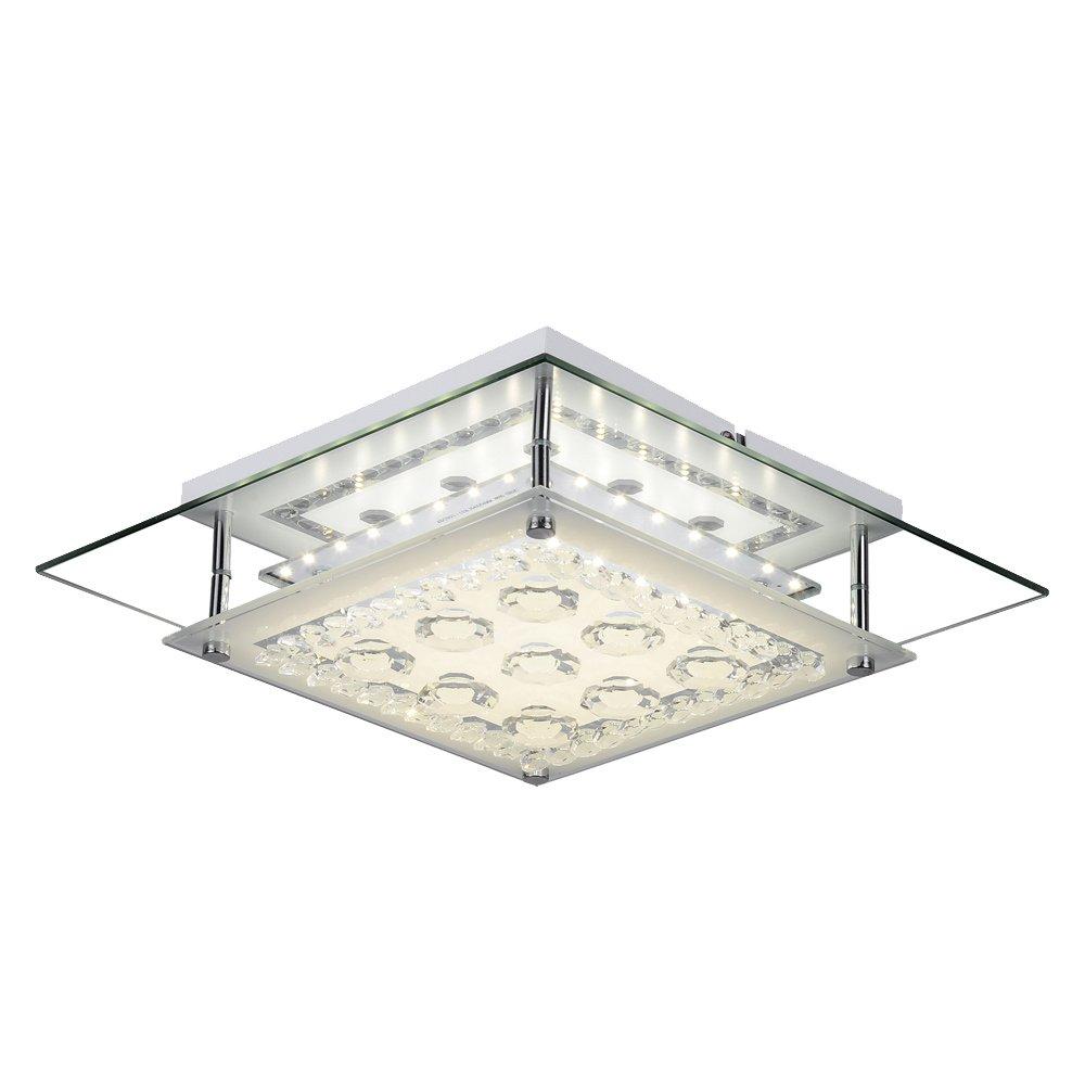 AUDIAN Flush Mount Ceiling Light Ceiling Lamp Modern Lighting Chrome Light Foyer Nursery Light Fixture Dimmable LED Luxury K9 Crystal Chandelier for Bedroom Dining Room Bathroom Bedroom W11H3.1''