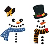 Amazon Com Wesjoy Christmas Snowman Refrigerator Magnets
