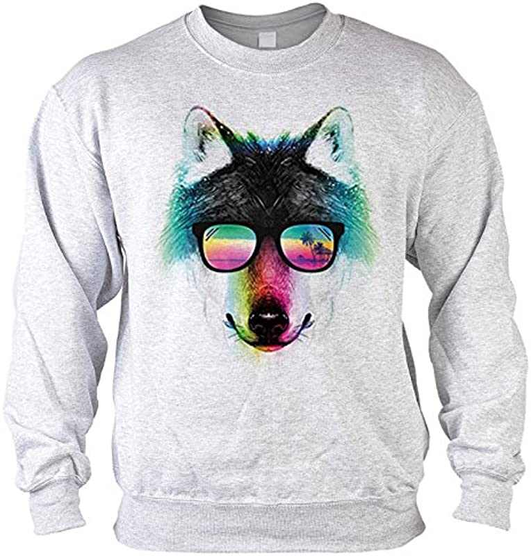 Sweter męski sweter z motywem: Summer Wilk – motyw zwierzęcy – prezent – swetry, – Kolor: szary: Odzież
