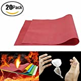 20 Pack Magic Flash Paper Flame Trick Gimmick Conjuring Stage Props Accessories Paper to Rose Magic Tricks for Magic Show Or Lover