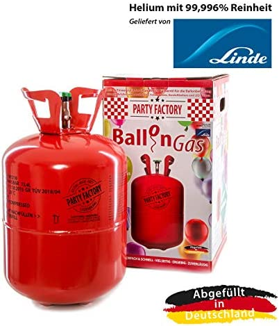 Party Factory Ladenburg Helium Flasche inkl. 50 Luftballons