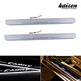 Kaizen Toyota Camry Illuminated Door Sill Entry Guard LED Dynamic Moving Light Scuff Plate Protector For 2011 2012 2013 2014 Toyota Camry