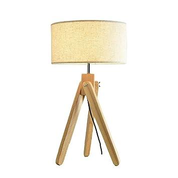 Lampes de table en Bois Massif Chambre À Coucher Salon Etude