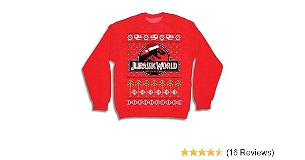 dd96448ab Amazon.com: Jurassic World T Rex Logo Red Ugly Christmas Sweater (Adult  XX-Large): Clothing