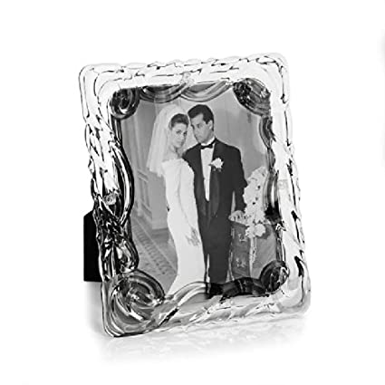 Fifth Avenue Crystal Lucria Glass Picture Frame 8 By 10 Inch
