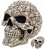 7.5 Inch Spirit Ghost Print Skull Removable Top Desktop Figurine