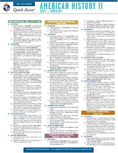 Download American History 2 - REA's Quick Access Reference Chart (Quick Access Reference Charts) pdf epub