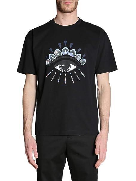 Kenzo Hombre F865TS0284YK99 Negro Algodon T-Shirt: Amazon.es: Ropa y accesorios