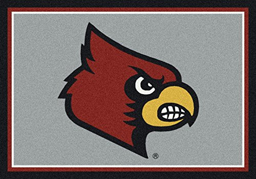 (American Floor Mats Louisville Cardinals NCAA College Team Spirit Team Area Rug 7'8