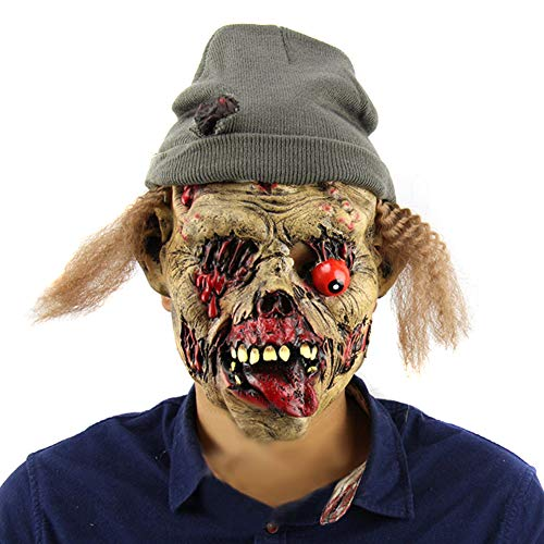 Tulas Halloween Zombie Tomb Keeper Scary Mask Latex Full Face Nausea Horror Evil Spirits Masks Ghost House Cosplay Props -