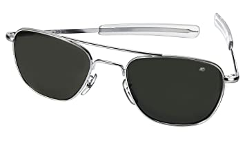 american aviator sunglasses  Amazon.com: AO American Optical Original Pilot Sunglasses Silver ...