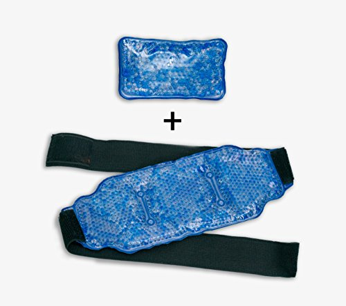 (Reusable Ice Pack for Injuries - Hot & Cold Pain Relief Therapy Pack with Strap | Innovative Bead Technology Provides The Best Hot/Cold Pain Relief Wrap for Back, Knee, Shoulder, Ankle Calves & Hips)