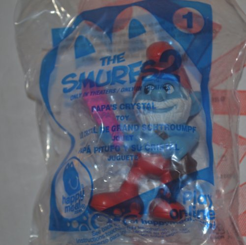 2013 Mcdonalds the Smurfs 2 Papa's Crystal #1