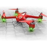 Ralon NEW Drone B2W RC Quad-copter 2.4GHz 6-Axis Gyro 1080P HD 5G Wi-Fi Camera FPV Drone Remote Control Drone Folding Aircraft (Red)